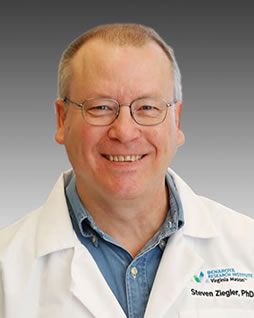 Steve Ziegler, PhD, leads BRI's immunology research program, affiliate professor at UW Department of Immunology and a visiting professor at Chiba University.